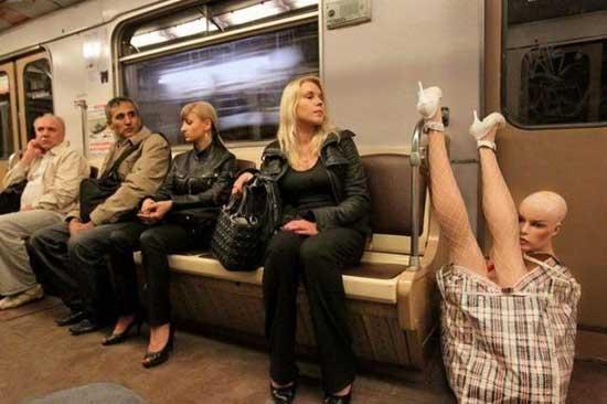 Приколы в метро Москвы - фото