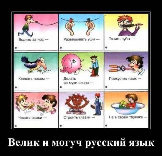 Шутки про русский язык
