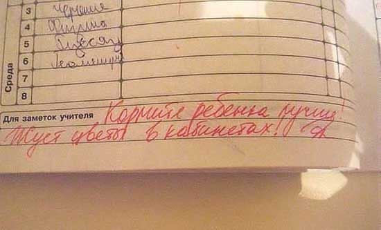 Прикольные записи в дневниках - фото
